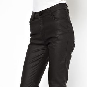 Just Female Stroke High Waist Coated Skinny Jeans